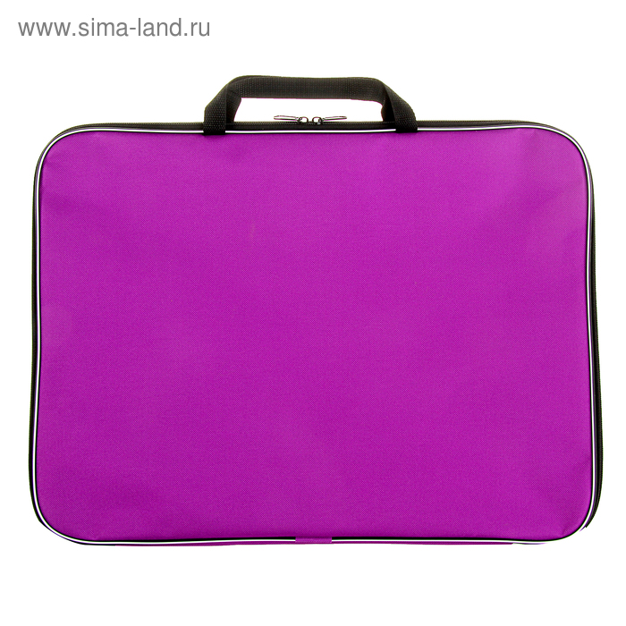 Папка А3 с ручками текстильная 470х350х20 мм ПМ-3/9 600D, Фиолетовая