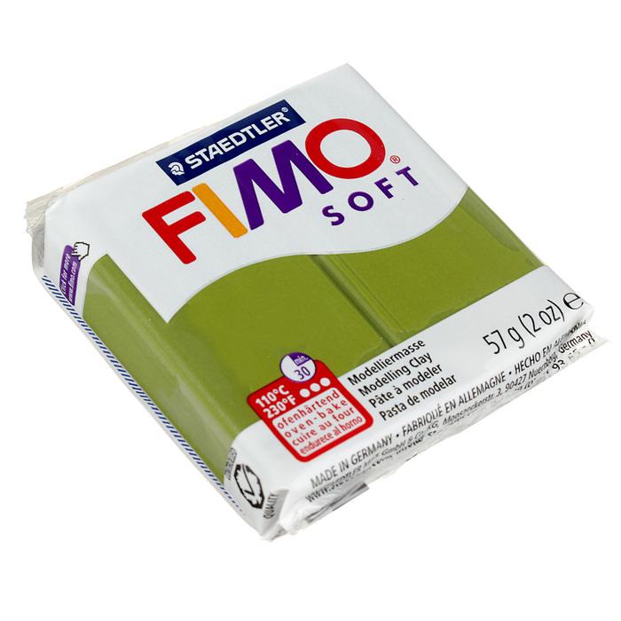 Пластика - полимерная глина FIMO soft, 57 г, оливковый