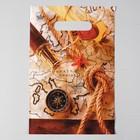 """Пакет """"Капитан Грант"""", полиэтиленовый с вырубной ручкой, 20 х 30 см, 30 мкм - фото 308576191"""
