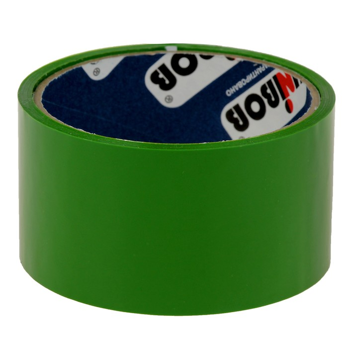 Клейкая лента упаковочная 48 мм х 24 м, 45 мкм UNIBOB (зеленая)