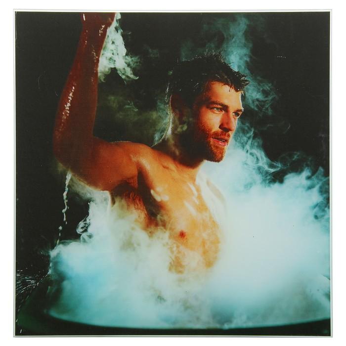 Картина для бани «Мужчина в пару», 30х30 см