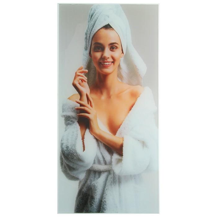 Картина для бани «Женщина в халате», 25х50 см
