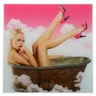 Картина для бани «Девушка в облаках», 30х30 см