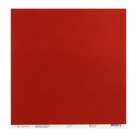"""Бумага для скрапбукинга текстурированная """"Красный"""" 235г/м2, 30,5х30,5 см, набор 10 листов"""
