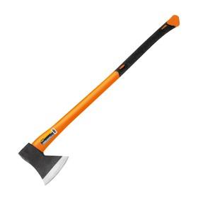 """Топор """"Кратон"""" 2 15 04 008, фибергласовая обрезиненная ручка 1.25 кг, рукоятка 90 см"""