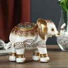 """Сувенир полистоун """"Индийский слон в сине-бордовой попоне"""" 11,5х15,5х6,5 см"""