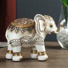"""Сувенир полистоун """"Индийский слон в оранжево-серой попоне"""" 11,5х15,5х6,5 см"""