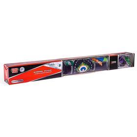 Коврик игровой «Технопарк», с двумя металлическими машинками и дорожные знаки 7,5 см