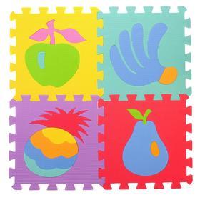 Коврик-пазл «Союзмультфильм с фруктами», 9 сегментов