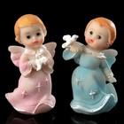 """Сувенир полистоун """"Ангел с голубем в руках"""" МИКС 5,6х3,3х2,8 см"""