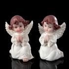 """Сувенир полистоун """"Ангел в белоснежном платье с жемчужными крыльями"""" МИКС 8,5х5,8х5 см"""