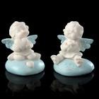 """Сувенир полистоун """"Ангел-карапуз на сердечке, голубые крылышки"""" МИКС 4,4х3,8х5 см"""