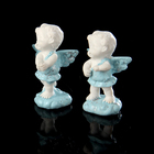 """Сувенир полистоун """"Ангел-карапуз на облачке, голубые крылышки"""" МИКС 5,8х4х2,6 см"""