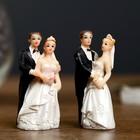 """Сувенир полистоун """"Жених и невеста - свадебный день"""" МИКС 6,2х2,8х1,7 см"""