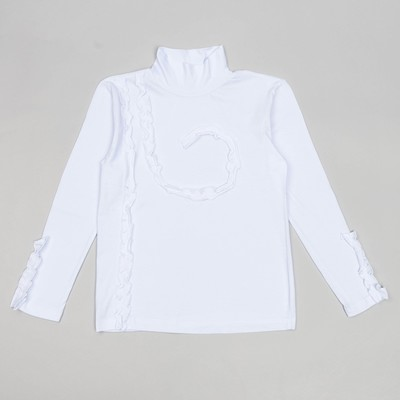 Водолазка для девочек, рост 134-140 (38) см, цвет белый