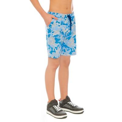 Шорты для мальчика, рост 116 см, цвет голубой/милитари