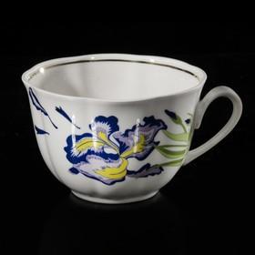 "Чашка 240 мл ""Тюльпан. Ирис"", отводка золотом"