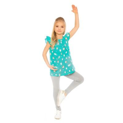 Блуза для девочки, рост 98 см, цвет мятный