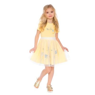 Платье для девочки, рост 110 см, цвет жёлтый