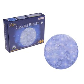 Пазл 3D кристаллический «Шар», 41 деталь, световые эффекты, работает от батареек