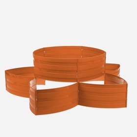 Клумба пластиковая, 15 × 540 см, 18 секций, коричневая, «Конструктор»
