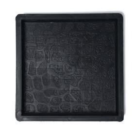 Форма для тротуарной плитки «Галька», 25 × 25 × 2,5 см, Ф32001, 1 шт