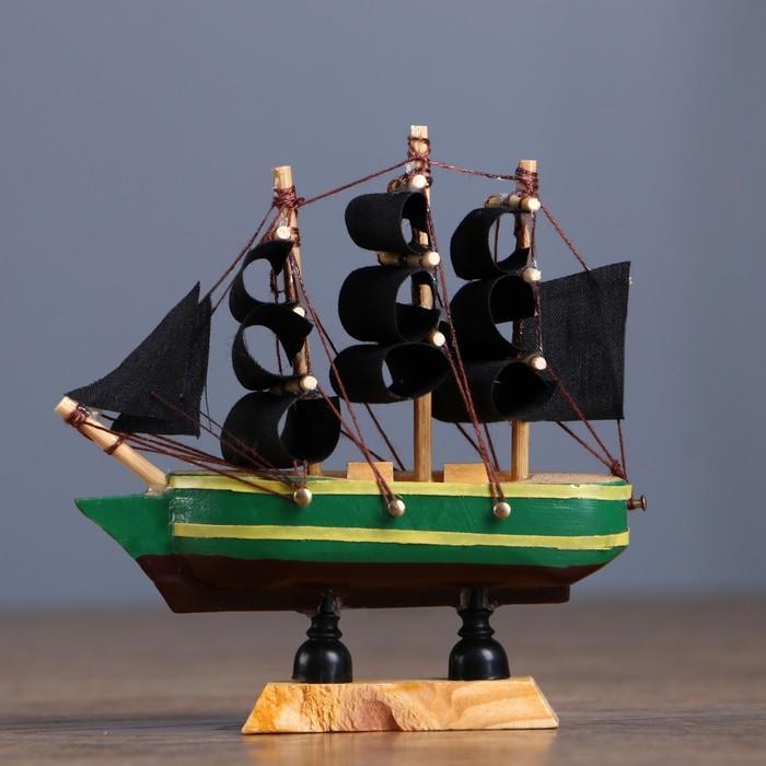 Корабль сувенирный малый «Испаньола», борта с полосой, микс, 3×10×10 см