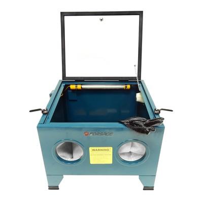 Пескоструйная камера Forsage F-SBC90, 72 л, 6.8 атм, 200 л/мин, сопла 4-7 мм, пневмо.