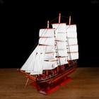 Корабль сувенирный большой «Гайрет», борта красное дерево, паруса белые, 82×13×62 см - фото 873193