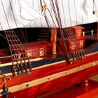 Корабль сувенирный большой «Гайрет», борта красное дерево, паруса белые, 82×13×62 см - фото 873195