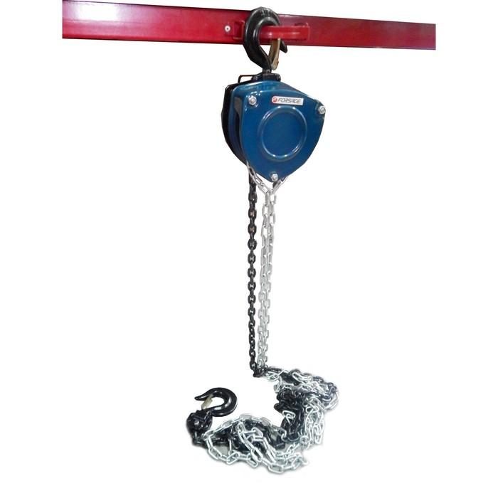Лебедка механическая Forsage F-TRC90101A, подвесная с лепестковым мех-м фиксации, 1т, 2.5м