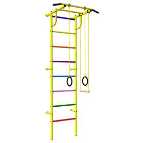 Детский спортивный комплекс 3.1 «Роки-Ленд» с навесным оборудованием, 830 × 670 × 2070 мм, цвет жёлтый/цветной,