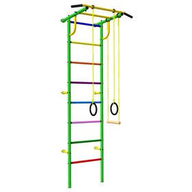 Детский спортивный комплекс 3.1 «Роки-Ленд» с навесным оборудованием, 830 × 670 × 2070 мм, цвет зелёный/цветной