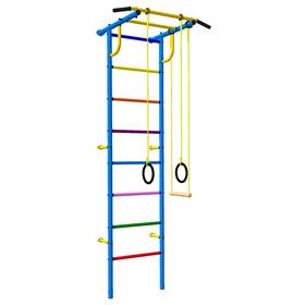Детский спортивный комплекс 3.1 «Роки-Ленд» с навесным оборудованием, 830 × 670 × 2070 мм, цвет синий/цветной