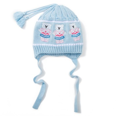 Шапка для девочки, размер 48-50 см, цвет голубой