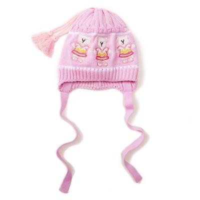 Шапка для девочки, размер 48-50 см, цвет розовый