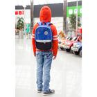 Рюкзак школьный, отдел на молнии, 2 наружных кармана, 2 боковые сетки, дышащая спинка, цвет голубой