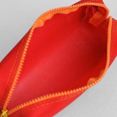 Косметичка-пенал, отдел на молнии, цвет красный