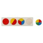 "Puzzle ""Logical fractions"" circles, 10 items"