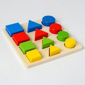 Головоломка «Логические дроби» учим формы, цвета и размеры, 12 элементов