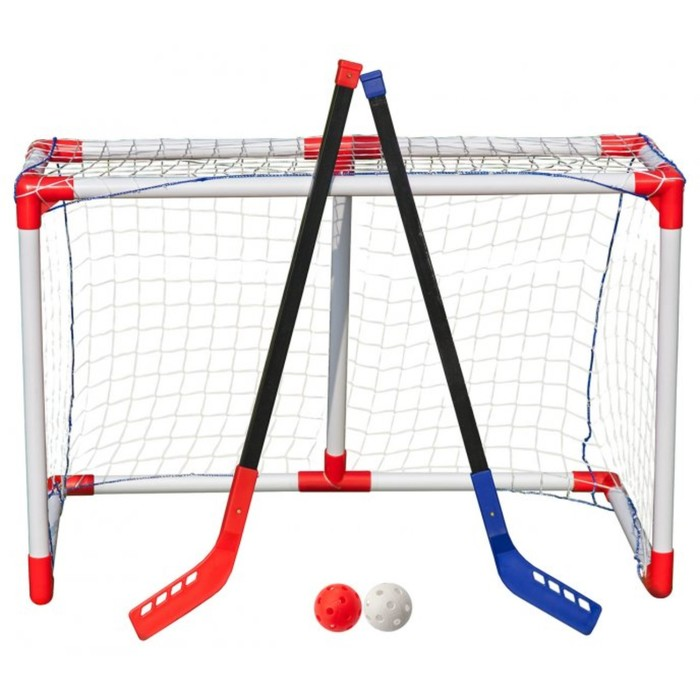 Комплект для игры в хоккей с мячом, флорбол Junior Hockey