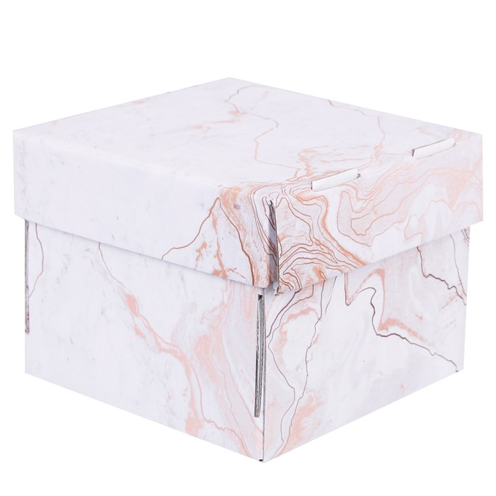 Коробка складная «Мраморная», 15 × 15 × 12 см