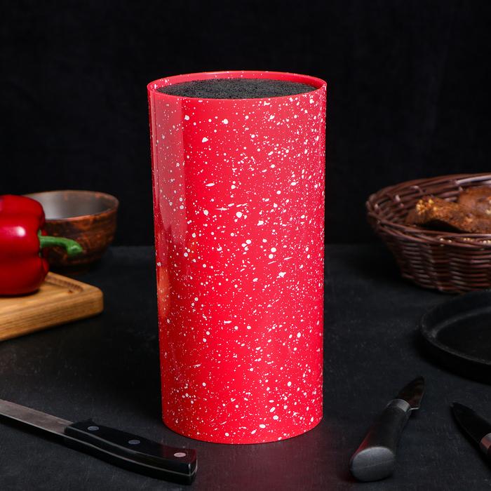 Подставкадля ножей «Красный гранит», 11×22 см, с наполнителем