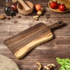 Доска авторская для подачи, массив грецкого ореха, 45х18 см
