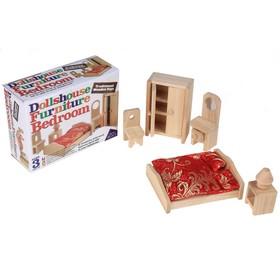 """Мебель для кукол """"Спальня"""", 5 предметов"""