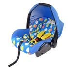 Safe car seat, group 0+, blue color Palette