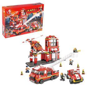 Конструктор «Пожарная станция», 727 деталей