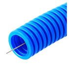 Труба ПП, Строитель, d=20мм, не распространяющая горение, с зондом, синяя(100/4800м уп/пал)   339186