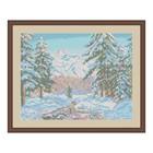 Схема для вышивки бисером «Зимний пейзаж» - фото 694989