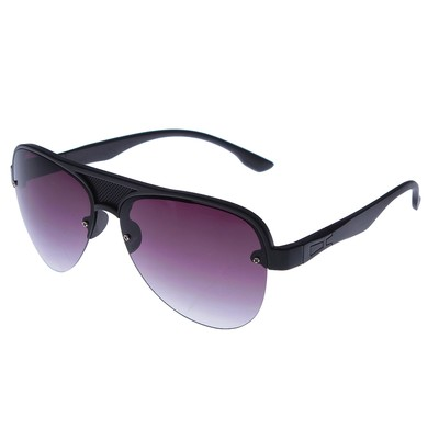 Очки солнцезащитные Авиаторы. Оправа чёрная сплошная в крапинку, линзы фиолетовые, 14х4х5 см
